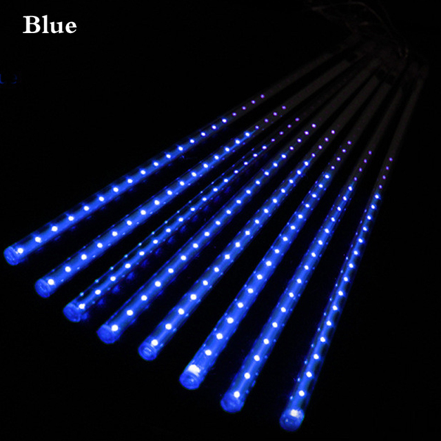 eu plug 8pcsset 30cm 50cm meteor tube led meteor shower rain tubes christmas lights
