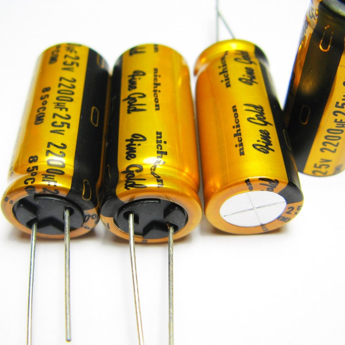 5pcs/10pcs original Japan NICHICON FG 25v2200uf condenser for audio super capacitor electrolytic capacitors free shipping-in Capacitors from Electronic Components & Supplies