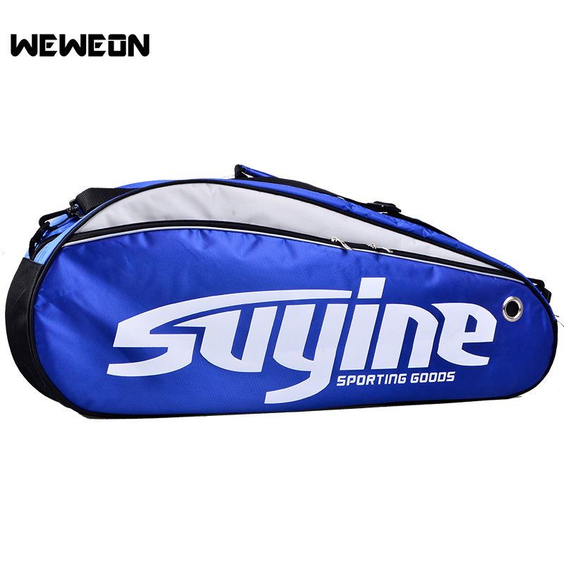 Hot Selling Sports Tennis Racket Bag Badminton Gym Bags for 3 Racquets Badminton Racket Bags Shoulder Bag for Racquets Storage