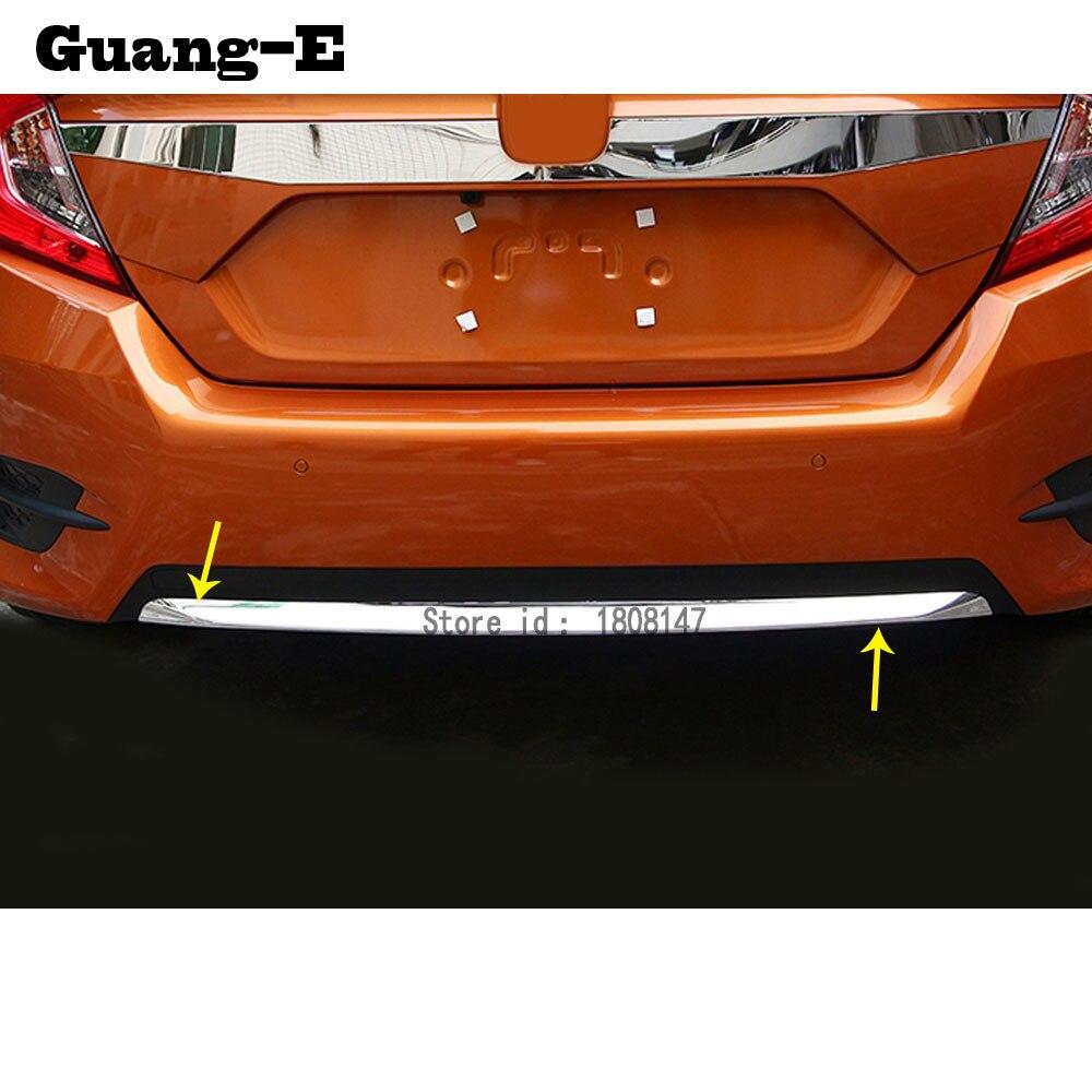 Bâche de voiture protection pare-chocs ABS garnitures chromées arrière arrière arrière bas capots panneau 1 pièces pour Honda Civic 10th berline 2016 2017 2018