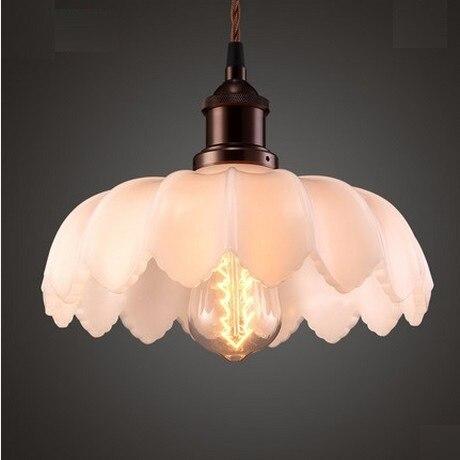 Retro loft estilo de hierro de vidrio Edison luz colgante para