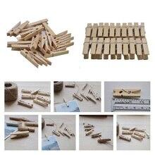 Pegs Socks Clips Wood Pins Craft Photo-Paper DIY Home-Decor Mini 35MM 20 8z 20pcs Colorful