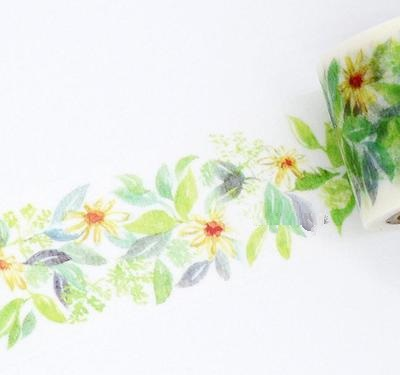1Roll=35mmx7m High Quality Flower Plant Pattern Japanese Washi Decorative Adhesive Tape DIY Masking Paper Tape Label Sticker аудиоинтерфейс behringer line2usb