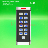 12V24V Proximity Card Access Control rfid IC Card Waterproof Door Access Control System Metal Case & keypad with blue backlight