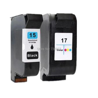 1 Set Remanufactured Ink Cartridge For HP15 HP17 HP 15 17 For HP PSC Series 500xi