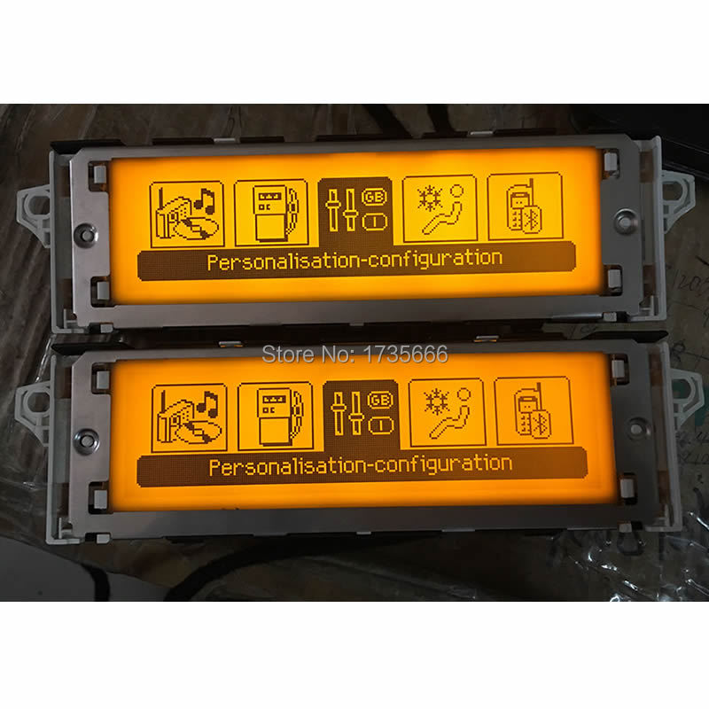 Original 12 Pin Multi function Screen Support air condition USB Bluetooth Display Yellow Monitor For Peugeot
