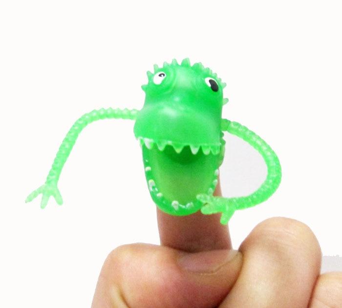 Novelty Dinosaurus Plastik Fingers Fingers Tacit Story Mini Dinosaur - Boneka dan mainan lunak - Foto 3
