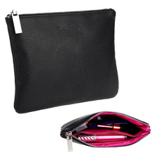 Professional Travel Cosmetic Bag Leather Clutch Makeup Storage Pouch Toiletry Wash Organizer Case High Quality