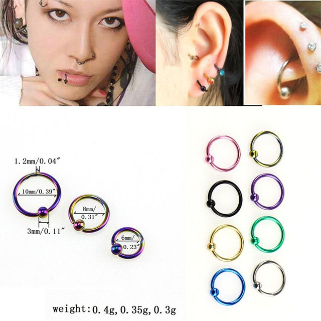a03040aa077 MISANANRYNE 8 Colors Body Jewelry Medical Titanium Fashion Style Medical  Hoop Nose Rings Clip Fake Piercing Nose Ring For Women