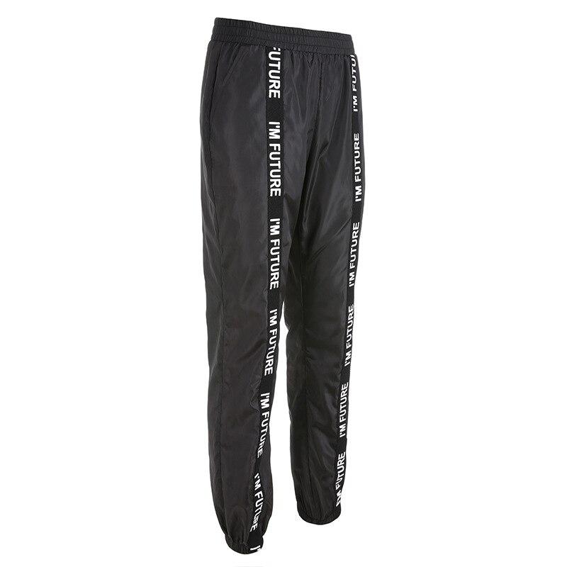 HOUZHOU Harem Pants Trousers Women Full Length Loose Jogger Mujer Sporting Elastic Waist Black Casual Combat Streetwear Fashion 35