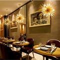 Скандинавский чердак искусство Одуванчик дизайн люстра креативная Радиационная Сфера кофе ресторан бар светодиодные подвесные светильни...