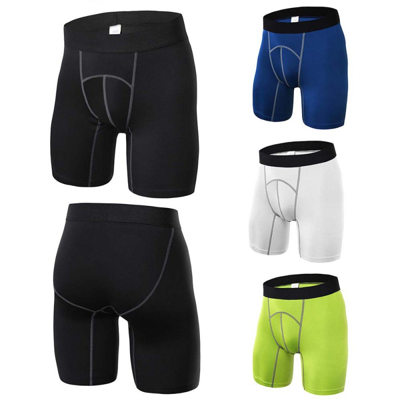 4 Colors Men Sexy Fitness Sports Tights Quick-drying Compression Breathable Shorts Athle ...