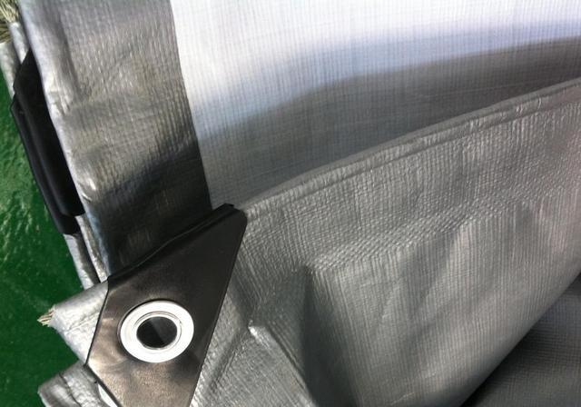 Envío libre de color gris plata 2 m X 3 m lona impermeable, al aire libre lonas, lonas de camiones, paño del sol y el polvo.
