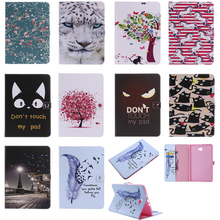 Luxury Horse Print Leather Magnetic Flip Wallet Tablet Case Cover Coque Funda For Samsung Galaxy Tab A A6 10.1 2016 SM-T580 T585 case for samsung galaxy tab a a6 10 1 2016 t580 sm t585 t580n cover funda tablet fashion cartoon cat print tpu pu leather shell