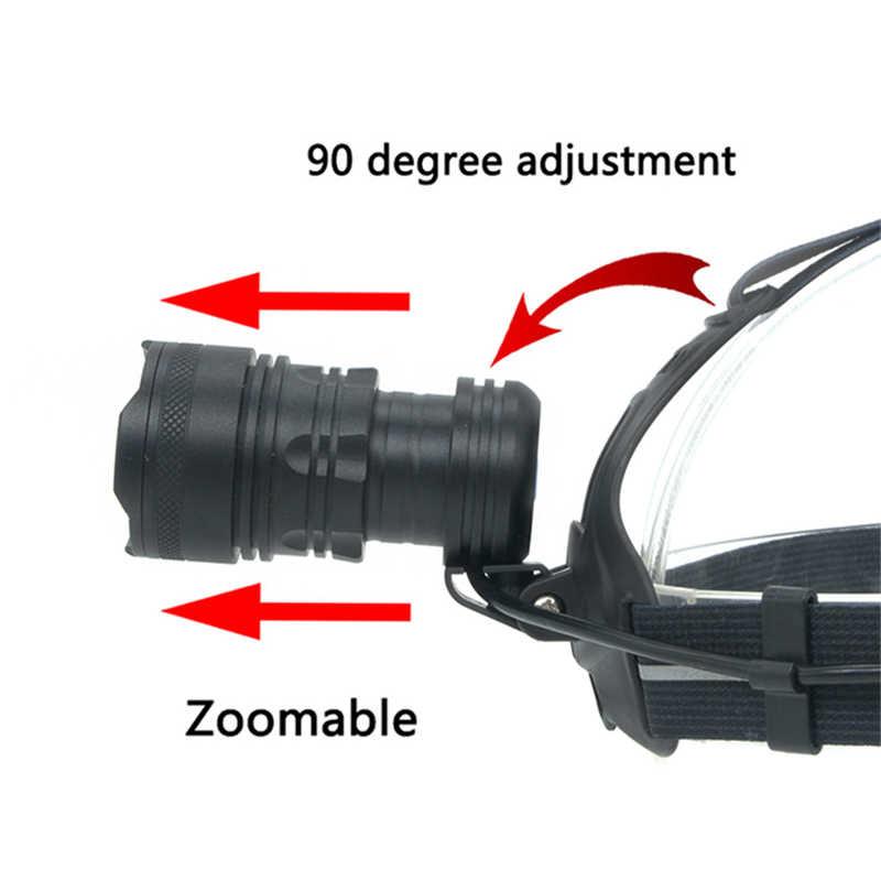 Litwod Z90 2808 32W chip XHP70 high power Led headlamp 42920lum powerful Headlight head lamp flashlight torch zoom Head light