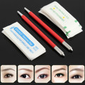 New Professional 2Pcs Semi-Permanent Eyebrow Tattoo Pen Eyebrow Makeup Manual Microblading Pencil+20pcs Needle Blade