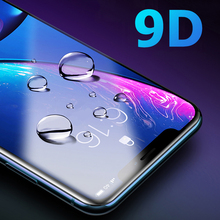 9d 보호 유리 아이폰 x 6 6 s 7 8 플러스 유리 아이폰 11 프로 최대 화면 보호기 아이폰 화면 보호 xr 가장자리