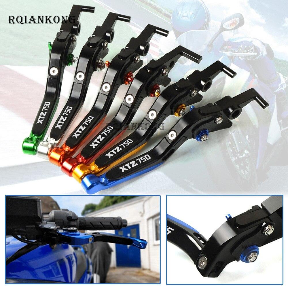 Motorcycle CNC Aluminum Adjustable Folding Extendable Brake Clutch Levers For Yamaha XTZ750 XTZ 750 2014 2018