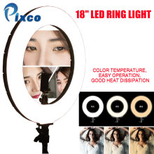 18 Inch Photo Studio lighting LED Ring Light 480PCS Bulbs 3200-6000k Photography Dimmable Ring Lamp With Tripod for Video,Makeup yidoblo pink 96w 480pcs bi color photo studio ring led video light photographic lamp lcd screen display with remote controller