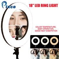 Pixco 18 дюймов светодиодный кольцо света 60 W 480 шт светодиодный лампы 3200 K 6000 K для фотографических Камера для iPhone samsung huawei для xiaomi