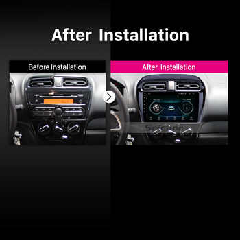 Seicane 9 inch Android 8.1 Car Radio Multimedia Player for Mitsubishi Mirage 2012-2016 GPS Navigation ROM 16GB 4-Core WIFI FM 3G
