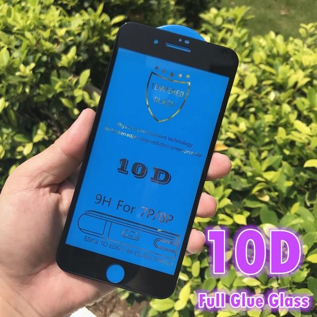 Оригинальное защитное стекло с изогнутыми краями 10D для iPhone 11 PRO 6 6s 7 8 Plus, закаленное защитное стекло для экрана iPhone X XS Max XR