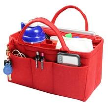 Customizable Felt Tote Organizer (w/ Handles & Detachable Compartments) Neverfull MM GM PM Speedy 30 25 35 40 Purse Insert Bag