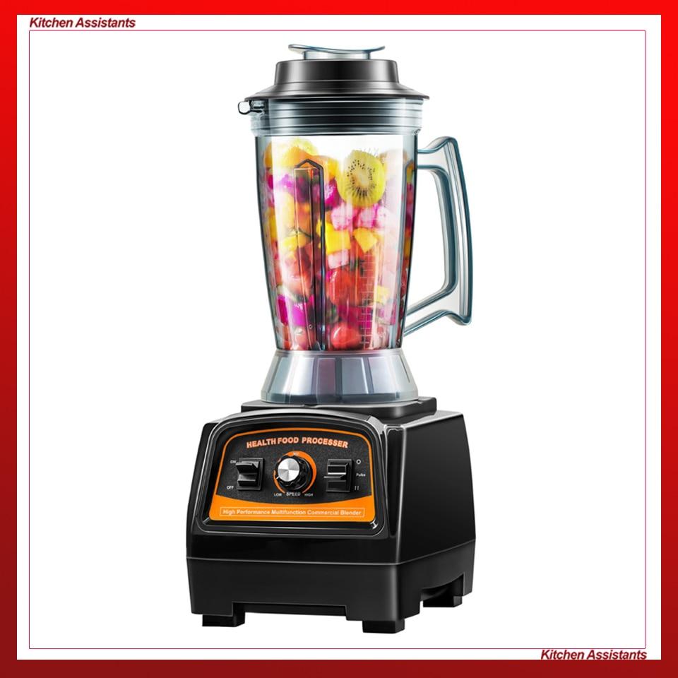 A7400 Cozinha Poderosa Batedeira Elétrica 2800 W BPA LIVRE Material Espremedor Misturador Liquidificador Smoothies Gelo Negro
