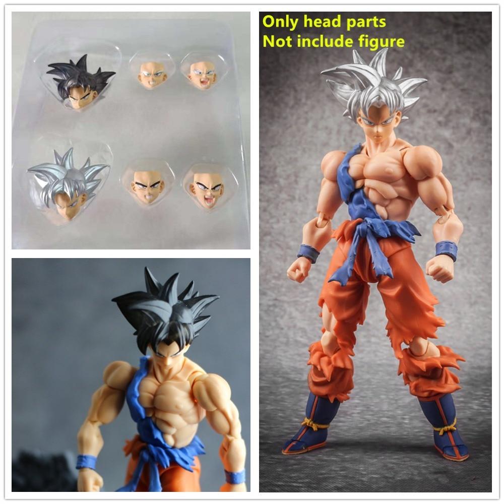 Cheval possédé demoniacal fit Dragon Ball tête Ultra Instinct (sans corps) pour Bandai SHF Son Goku modèles NZ003