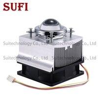 20 30 50 100 W LED Heatsink + 60/90/120 Degrees Lenes + Reflector Bracket + 12 Fans Cooling Radiator For DIY 20 30 50 100 W LED