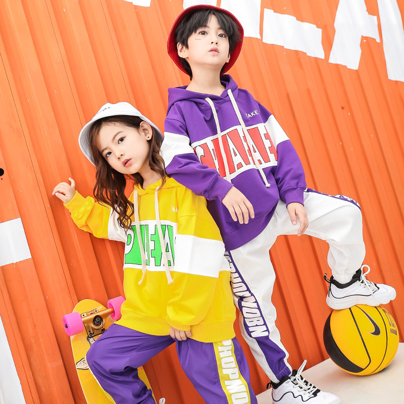 Image 2 - Baby Girls clothes 2 Piece Set Spring Autumn 2019 kids hip hop dance children costume  Sport Suits Dance Costumes girls outfitsClothing Sets   -