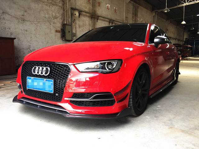 FIRST RELEASE! S3 FRONT LIP--R&CF 2014  RS3 STYLE CARBON FIBER FRONT SPLITTER LIP SPOILER FOR AUDI S3 NICE FITMENT& QUALITY!
