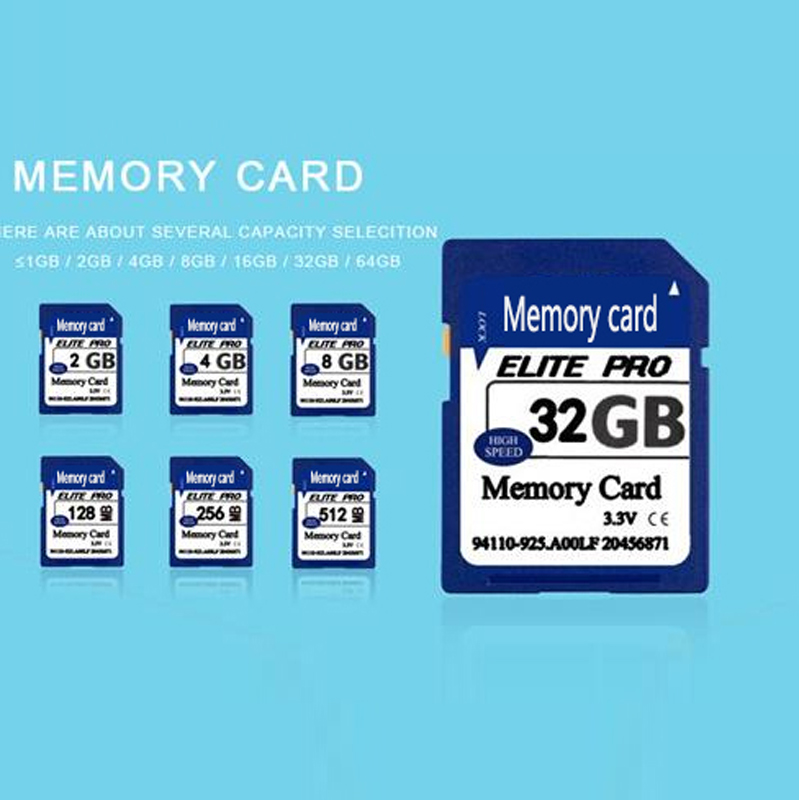 Factory Price 10PCS/Lot Real Capacity SD Flash Memory SD Card 128MB/ 256MB/ 512MB/ 2GB/ 4GB / 8GB cartao de memoria sd card 128