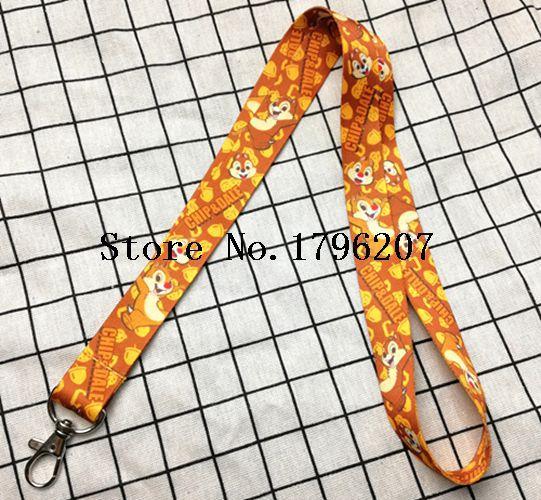1PCS Chipmunk Neck Strap Lanyard Mobile Phone Charms Key Chain ID Badge Key Chains P-10