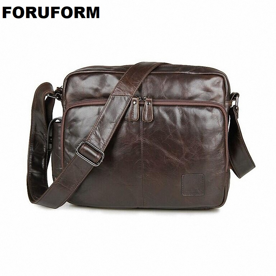 2018 Fashion Genuine Leather Man Messenger Bag Cowhide Leather Male Cross Body Bag Casual Men Multifunction Shoulder Bag LI-1271 wire man bag 2017 handbag male shoulder bag cross body bag commercial document bag