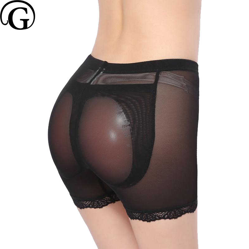 5a51d2d5b4d PRAYGER 2pcs Women Removable Silicone Pads Panties Fake Ass Enhancers Butt  Lifter Shaper Breathable Mesh Control