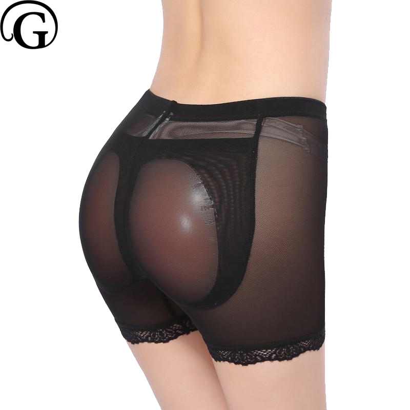 PRAYGER 2pcs Women Removable Silicone Pads Panties Fake Ass Enhancers Butt Lifter Shaper Breathable Mesh Control Thigh Underwear