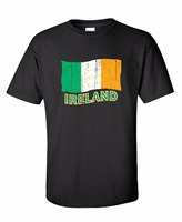 Man Summer Style Personality Design Ireland Distressed Flag Graphic Funny Irish St Patrick S Day Flag