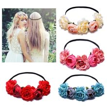 New Arrival Floral Girls Headbands for Women Hair Accessories Hair Band Fashion Flower Headband Party Wedding hoofdband(China)