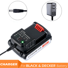 LCS1620 литий-ионная Батарея Зарядное устройство для BLACK & DECKER 20 В литий-ионная батареи 20 В 0.4A 400mA для LBXR20 LB20 LBXR20-OPE LBX20