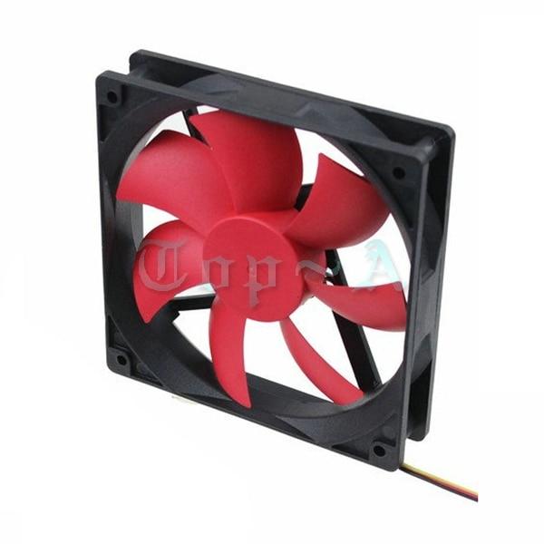 Gdstime 5 Pcs DC Fan 12V 3 Pin 4 Pin Large Wind Mute Fan 120mm x 25mm RED Blade Brushless Cooling Fans 120x25mm вентилятор для корпуса deepcool wind blade 80 wind blade 80