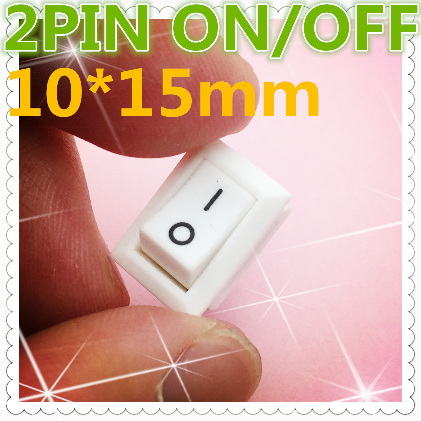 10pcs G134 White 2PIN 10*15mm SPST ON/OFF Boat Rocker Switch 3A/250V Car Dash Dashboard Truck RV ATV Home  Sell At A Loss USA 5pcs g124 green led light spst 3pin on off boat rocker switch 16a 250v 20a 125v car dash dashboard truck rv atv sell at loss