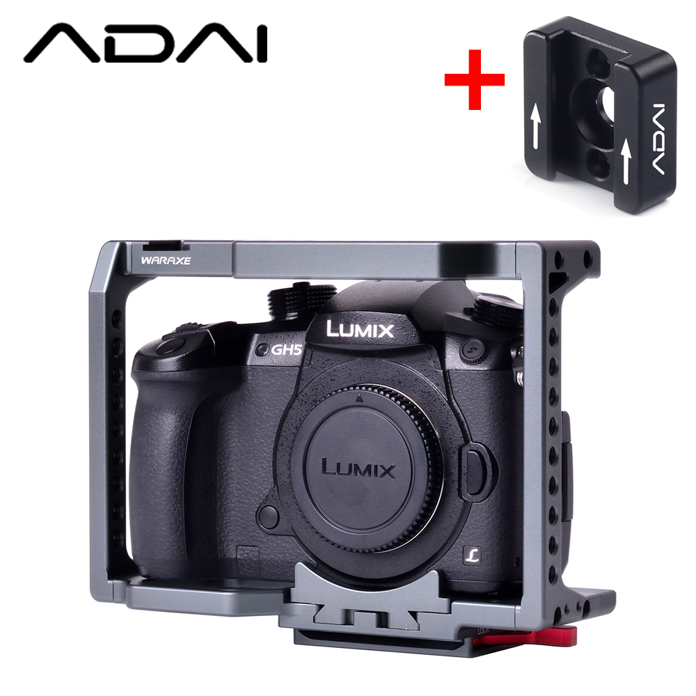 WARAXE Panasonic LUMIX H4/GH5/GH5S Cámara cageMirrorless Cámara ligero plataforma jaula soporta 2820-in caja para la cámara from Productos electrónicos on AliExpress - 11.11_Double 11_Singles' Day 1