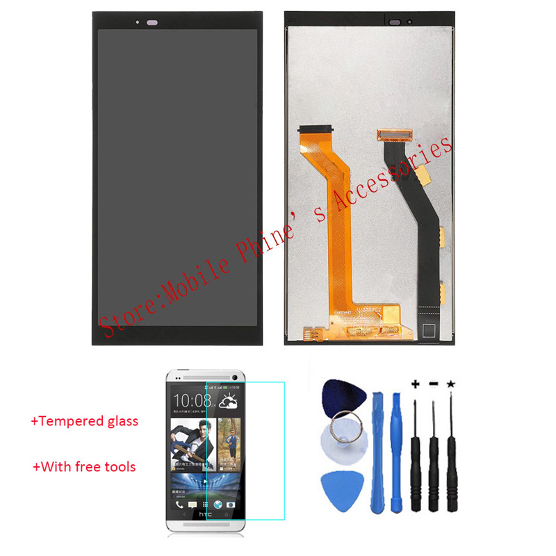 OEM 100% Test LCD Display Touch Screen Digitizer Assembly For HTC One E9 Black With Free Tools + Tempered Glass