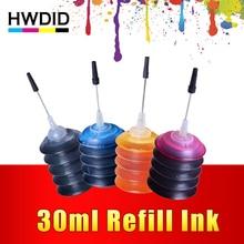 4 Pcs Universal 30ml dye ink K C M Y Refill Ink kit  For HP Canon Brother Epson Lexmark DELL Kodak printer ink Cartridge
