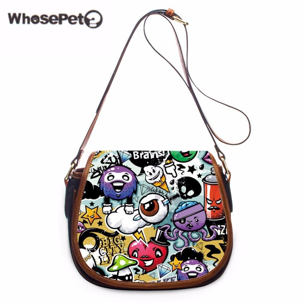 77d1921992 WHOSEPET Women Cover Satchels Ladies Cross-body Purse Graffiti Fashion  Sling Satchel Messenger Handbag Mini Cute Shoulder Purse