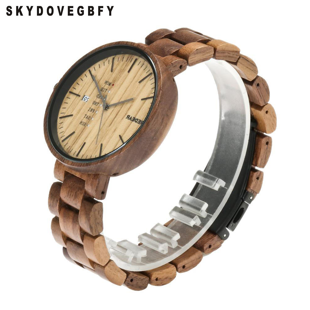 SKYDOVEGBFY Wood Watch Custom Walnut Watch Wrist Wooden Watches Luxury Wooden Bamboo Watches aa wooden watches w1 orange aa wooden watches