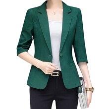 Slim Women Blazer feminino Coat Plus Size Casual Jacket One Button Suit