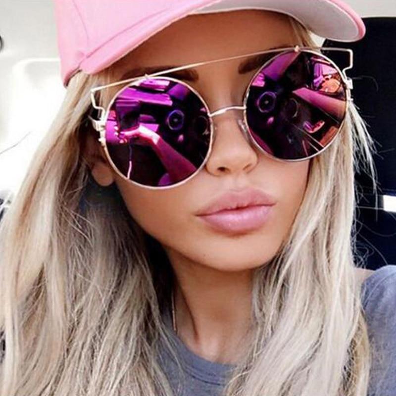 Square Cool Round Sunglasses Women Flat Top Mirror Sun Glasses Lady Eyewear Large Oversized Female Dropshipping Clear Eyeglasses