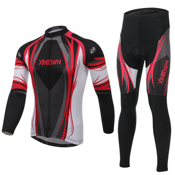 Hot !!! Men's Long Sleeve Jersey Pants Sets XINTOWN Cycling Clothing Bike Bicycle Long Sleeve Jersey Top